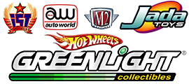 GreenLight, M2 Machines, Auto World, IST Models, IXO Models, Jada Toys, Hot Wheels diecast models
