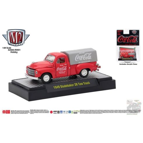 M2 MACHINES COCA-COLA RELEASE 01 1949 Studebaker 2R Truck - LIMITED EDITION - 1:64