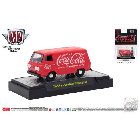 M2 MACHINES COCA-COLA RELEASE 01 1965 Ford Econoline Delivery Van - LIMITED EDITION - 1:64