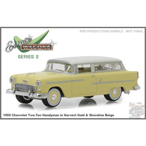 GREENLIGHT Estate Wagons Series 2 1955 Chevrolet Two-Ten Handyman, harvest gold 1:64
