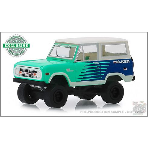 GREENLIGHT Hobby Exclusive 1976 Ford Bronco - Falken Tires 1:64