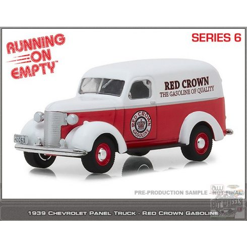 GREENLIGHT Running on Empty Series 6 1939 Chevrolet Panel Truck 'Red Crown Gasoline' 1:64