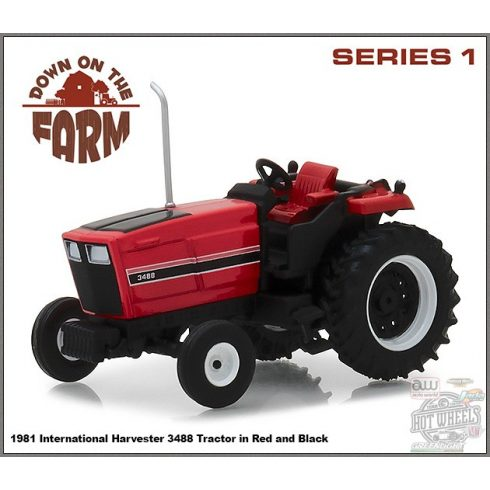 GREENLIGHT Down on the Farm Series 1 1981 International 3488 Tractor 1:64